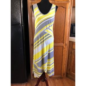 Cable & Gauge Yellow and Grey Maxi Dress XL